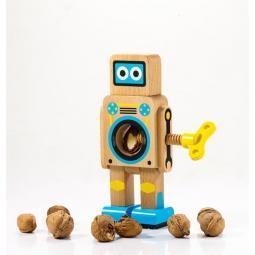 фото Орехокол мини Suck UK Robot. Цвет: светло-коричневый