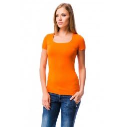 фото Футболка Mondigo 6074. Цвет: оранжевый. Размер одежды: 42