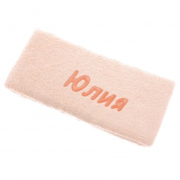 фото Полотенце подарочное с вышивкой TAC Юлия. Цвет: персиковый