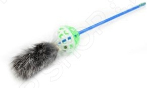 Игрушка-дразнилка для кошек ЗООНИК с мехом игрушка для кошек 1 лабиринт с дразнилкой