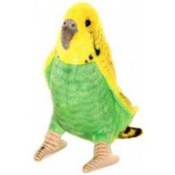 фото Мягкая игрушка для ребенка Hansa «Волнистый попугайчик зеленый»