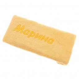 фото Полотенце подарочное с вышивкой TAC Марина. Цвет: желтый