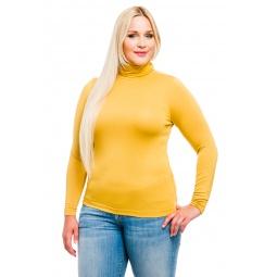 фото Водолазка Mondigo XL 046. Цвет: горчичный. Размер одежды: 52