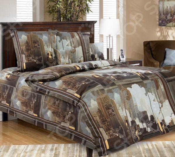 цена Комплект постельного белья Белиссимо «Город» онлайн в 2017 году
