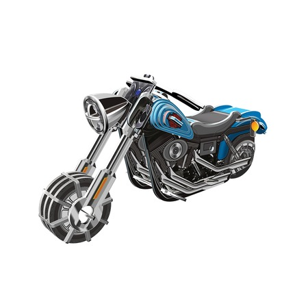 Купить 3D Пазл с моторчиком IQ Puzzle Мотоцикл