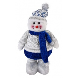 фото Игрушка новогодняя Новогодняя сказка с регулируемой высотой «Снеговик»