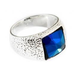 фото Кольцо Jenavi Алудра. Вставка: Swarovski синий кристалл. Размер: 16