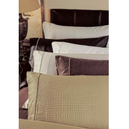 фото Комплект постельного белья Valeron Crocodile. Евро. Цвет: коричневый