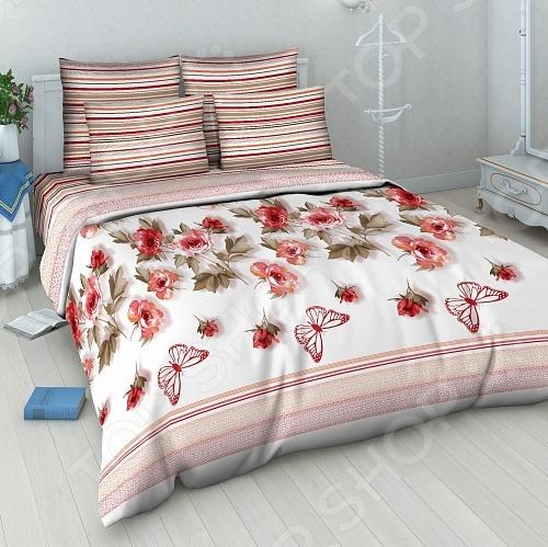 Комплект постельного белья Василиса «Розовый вальс» комплект семейного белья василиса цветочный вальс 5005 1 70x70 c рб