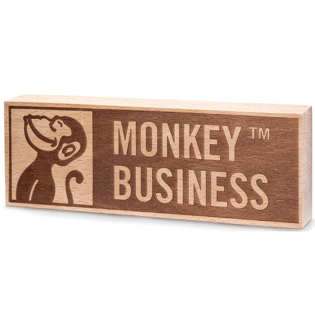 фото Табличка Monkey Business Logo