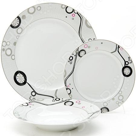 Сервиз обеденный Loraine LR-10400Наборы посуды для сервировки<br>Сервиз обеденный Loraine LR-10400 это сочетание непревзойденного качества и стильного дизайна. Он станет прекрасным дополнением к набору ваших кухонных принадлежностей и подойдет для сервировки как обеденного, так и праздничного стола. Посуда выполнена из высококачественных материалов и декорирована оригинальным рисунком. Сервиз рассчитан на шесть персон. Торговая марка Loraine это синоним первоклассного качества и стильного современного дизайна. Компания занимается производством и продажей кухонных инструментов, аксессуаров, посуды и т.д. Функциональность, практичность и инновационные решения вот основные принципы торгового бренда Loraine.<br>