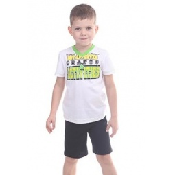 фото Комплект детский: футболка и шорты Свитанак 606497. Размер: 26. Возрастная группа: от 1 до 1,5 лет. Рост: 86 см