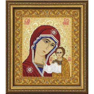 Купить Набор для вышивания с бисером Riolis «Богоматерь Казанская»