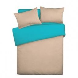 фото Комплект постельного белья Wenge Uno «КБВу-21». 2-спальный. Цвет: бежевый, бирюзовый
