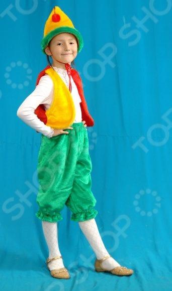 Костюм новогодний детский Костюмы «Петрушка» 030Маскарадные костюмы для мальчиков<br>Костюм новогодний детский Костюмы Петрушка 030 поможет перевоплотиться вашему ребенку в желаемого персонажа. Близится Новый год - самый волшебный праздник в году и многие школы устраивают маскарады в честь этого события. Этот костюм именно то, что нужно вашему ребенку, ведь все любят классических персонажей детских маскарадов. Ваш малыш будет в восторге и с радостью согласится на время попасть в страну волшебников и сказок, а сделать это он сможет только в карнавальном костюме. В комплекте есть головной убор, жилетка и штаны.<br>