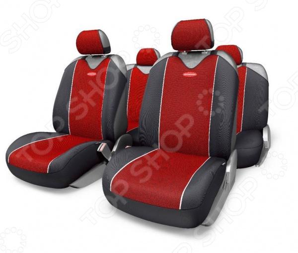 Набор чехлов-маек для сидений Autoprofi CRB-902PZ Carbon Plus Zipper