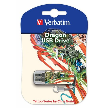 Купить Флешка Verbatim Store 'n' Go Mini Tattoo Dragon 16Gb