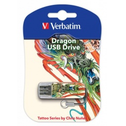 фото Флешка Verbatim Store 'n' Go Mini Tattoo Dragon 16Gb