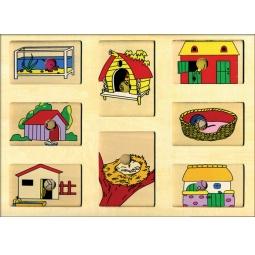 фото Игра развивающая Step Puzzle Что внутри? Чей домик?