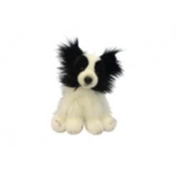 фото Мягкая игрушка MaxiLife «Собачка сидячая». Цвет: белый, черный