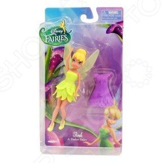 Кукла Jakks Pacific «Фея с дополнительным платьем»Куклы<br>Кукла JAKKS Фея с дополнительным платьем станет отличным подарком для вашей любимой доченьки. Очаровательная кукла Динь-Динь обязательно понравятся малышке и подойдут для моделирования различных сюжетно-ролевых игр. В наборе есть дополнительное платье, с помощью которого можно менять образ и стиль. У куклы подвижные ручки и ножки. Такие игры, в свою очередь, способствуют развитию у детей воображения, пространственного мышления и фантазии. Высота куклы - 11 см.<br>