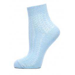 фото Носки женские ажурные Burlesco C693Ю. Цвет: голубой
