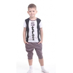 фото Комплект для мальчика: футболка и бриджи Свитанак 606454. Размер: 34. Рост: 128 см