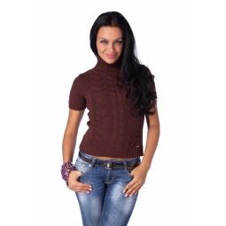 фото Свитер вязаный Mondigo 9004. Цвет: коричневый. Размер одежды: 46