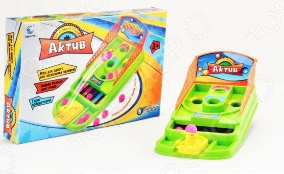 Пинбол настольный Shantou Gepai «Актив»Боулинг. Пинбол настольный<br>Пинбол настольный Shantou Gepai Актив это увлекательная игра для людей всех возрастов, главной задачей которой является забрасывание в специальные отверстия как можно большего количества шариков. Кто справляется с задачей лучше, тот и победил. Помимо развлекательной функции игра также помогает развить детишкам глазомер, моторику рук и умение считать.<br>