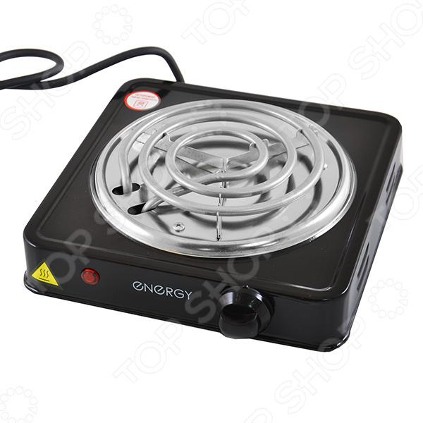 Плита настольная Energy EN-902ВНастольные плиты<br>Плита настольная Energy EN-902В станет отличным дополнением к набору вашей бытовой техники для кухни. Модель практична и удобна в использовании, работает по принципу электрического нагрева варочной поверхности. Плита снабжена спиральной конфоркой и поворотным переключателем. Корпус модели выполнен из высококачественных ударопрочных материалов.<br>