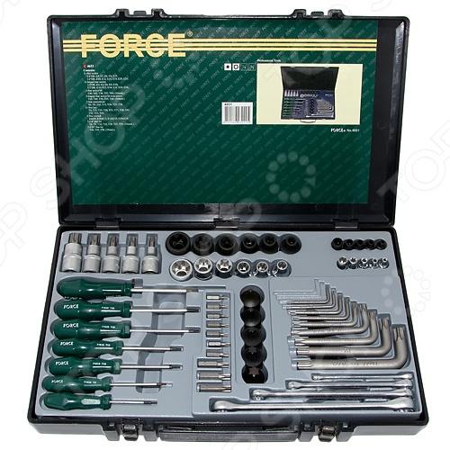 Набор инструмента Force F-4651Наборы инструментов<br>Набор инструмента Force F-4651 это универсальный набор инструментов, который предназначен для проведения ремонтных работ автомобиля. Набор надежен и долговечен в эксплуатации. Все инструменты сделаны из высококачественной стали, которая соответствует европейским стандартам. В комплект входит 64 предмета, которые упакованы в специальный чемодан для хранения и переноски инструментов.<br>