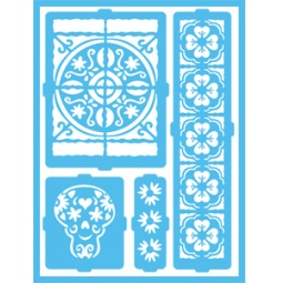 фото Трафарет декоративный для стекла и других поверхностей DecoArt Patio Paint Латинские узоры