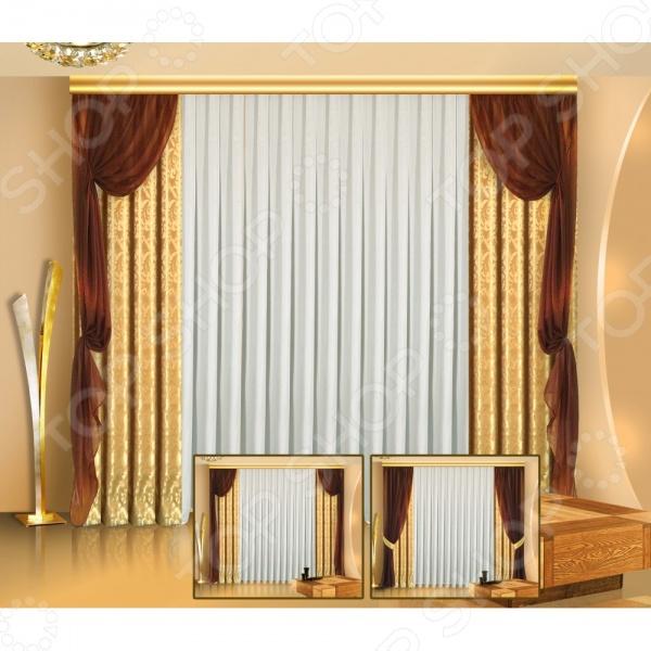 Комплект штор Zlata Korunka Б013 шторы интерьерные zlata korunka комплект штор