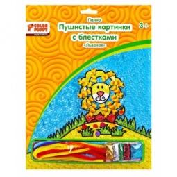 фото Набор для детского творчества Color Puppy «Пушистая картинка с блестками. Львенок»