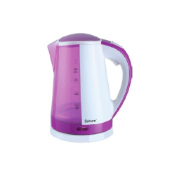 фото Чайник Saturn ST-EK0009. Цвет: фиолетовый, белый