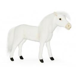 фото Мягкая игрушка для ребенка Hansa «Лошадь белая»