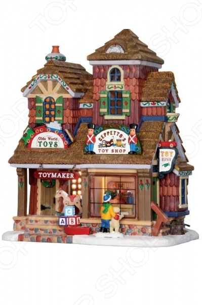 Домик керамический Lemax «Магазин игрушек: Джеппетто»