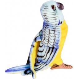 фото Мягкая игрушка для ребенка Hansa «Попугай волнистый голубой»