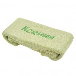 фото Полотенце подарочное с вышивкой TAC Ксения. Цвет: зеленый