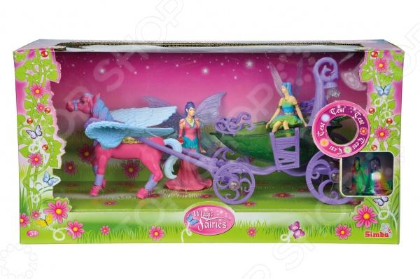 Набор игровой Simba «Лошадка с каретой и фигурками» 4410389