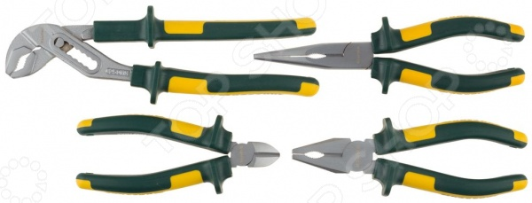 Набор губцевого инструмента Kraftool Kraft-Max 22011-H4 набор губцевых инструментов kraft max 3 штуки kraftool 22011 h3