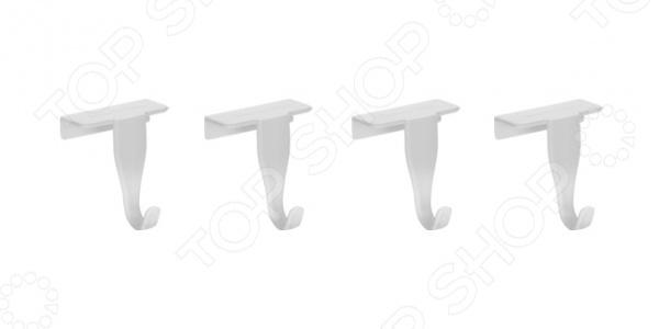 Набор крючков на дверцы кухонных шкафов Tescoma PrestoВешалки. Крючки<br>Набор крючков на дверцы кухонных шкафов Tescoma Presto поможет удобно повесить полотенца, салфетки и прочие кухонные принадлежности. Крючки могут быть размещены на любых дверях кухонных шкафов. Они имеют специальное покрытие, предотвращающее скольжение. Очищать крючки можно увлажненной тканью, после чего необходимо тщательно просушить. В комплекте представлено 4 изделия, материал пластик.<br>