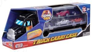 Игровой набор Motormax «Грузовик-переносной кейс» motormax motormax грузовик для перевозки автомобилей с 3 машинками