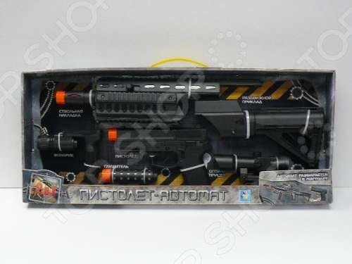 фото Автомат -пистолет игрушечный 1 Toy «Взвод» Т57375, Другое игрушечное оружие