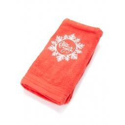 фото Полотенце подарочное с вышивкой TAC Snowflake. Цвет: красный