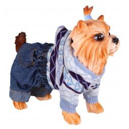 Купить Свитер для собак DEZZIE «Стрит». Цвет: голубой
