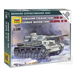 фото Сборная модель танка Звезда Т-4 F2