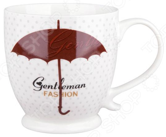 Кружка Miolla «Винтаж: Зонт»Кружки. Чашки<br>Начните утро с любимого напитка! Кружка Miolla Винтаж: Зонт изготовлена из высококачественного фарфора и дополнена дизайнерским рисунком. Посуда из этого материала позволяет максимально сохранить полезные свойства и вкусовые качества воды. Заварите крепкий, ароматный чай или кофе в представленной модели, и вы получите заряд бодрости, позитива и энергии на весь день! Классическая форма и универсальная цветовая гамма изделия позволят наслаждаться любимым напитком в атмосфере еще большей гармонии и эмоциональной наполненности.  Преимущества кружки Miolla Винтаж: Зонт :  Изготовлена из фарфора, что позволяет сохранить полезные свойства и вкусовые качества воды.  Украшена интересным рисунком.  Ее можно мыть в посудомоечной машине, что облегчает уход.  Поставляется в подарочной упаковке. Кружка Miolla Винтаж: Зонт является прекрасным подарком для ваших любимых, родных и близких.<br>