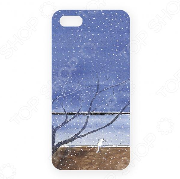 Чехол для iPhone 5 Mitya Veselkov «Котик под деревом» ремень с карманом под телефон на руку cc iphone6 iphone 6 5 5 cc2109