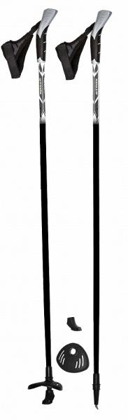 Палки для скандинавской ходьбы Atemi ATP-02 - модель палок для ходьбы с фиксированной длинной. Подходит для начала занятий. Пластиковую двухкомпонентную ручку можно удобно обхватить. Темляк изготовлен в виде капкана . Форма позволяет более плотно облегать кисть руки. Палки оснащены износостойкими наконечниками. Изготовлены из высококачественного материала, который делает их легкими и прочными.